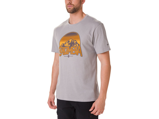 Columbia Basin Butte Camiseta Manga Corta Hombre, columbia grey heather/branded sunshade